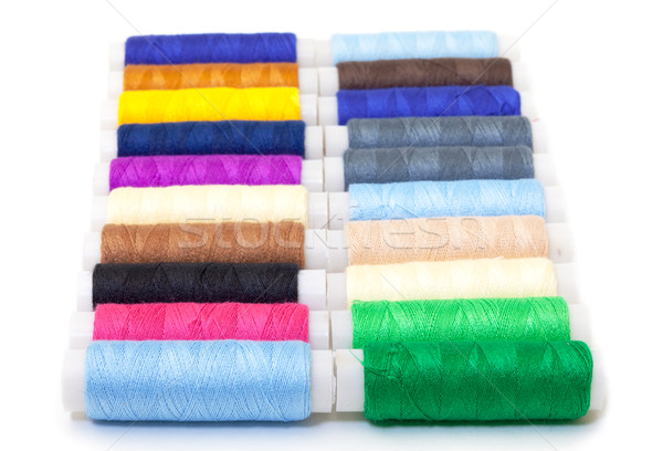 Vários fio branco fundo têxtil roupa Foto stock © Discovod