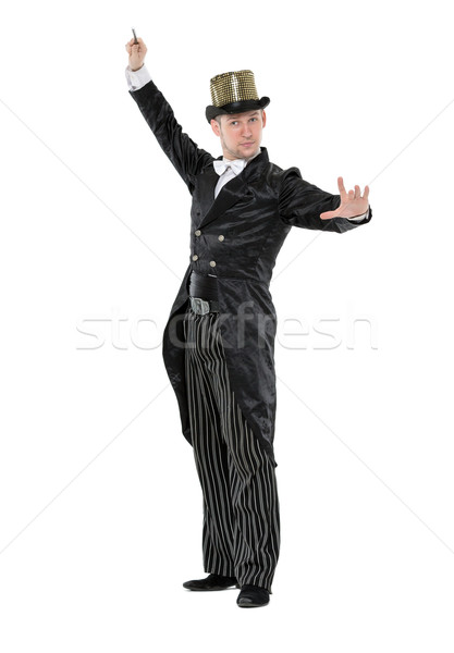 Illusionist Shows Tricks with a Magic Wand Stock photo © Discovod