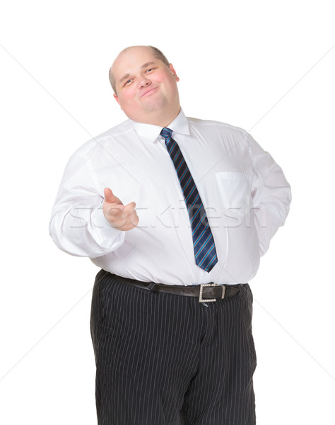 Obese businessman making gesturing Stock photo © Discovod