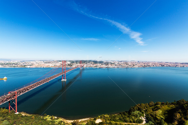 25 de Abril Cable-stayed Bridge over Tagus River Stock photo © Discovod
