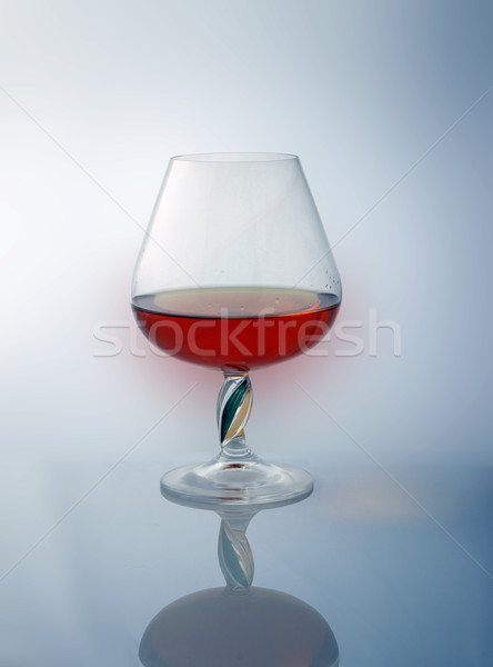 Stock photo: goblet with brandy