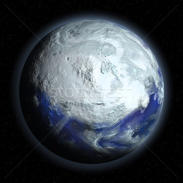 Planet Earth in Glacial Period Stock photo © Discovod