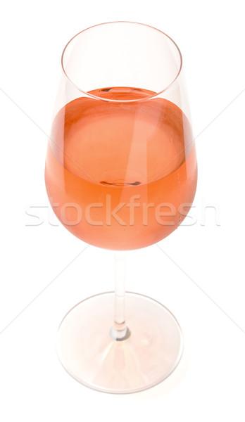 Copo de vinho rosa vinho branco beber Foto stock © Discovod