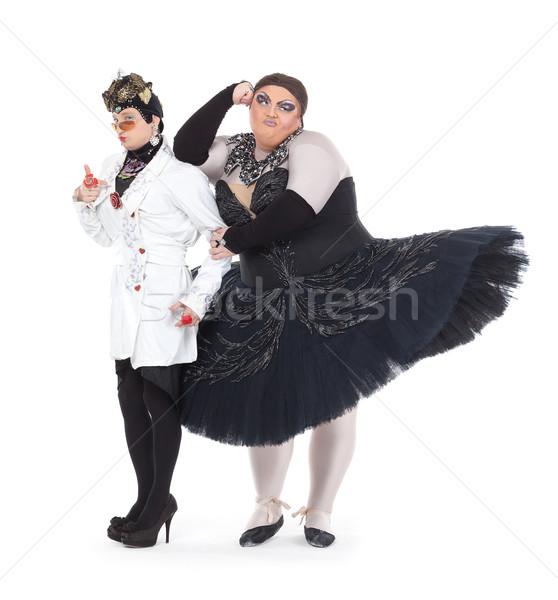 2 一緒に ユーモラス 女性 ストックフォト © Discovod