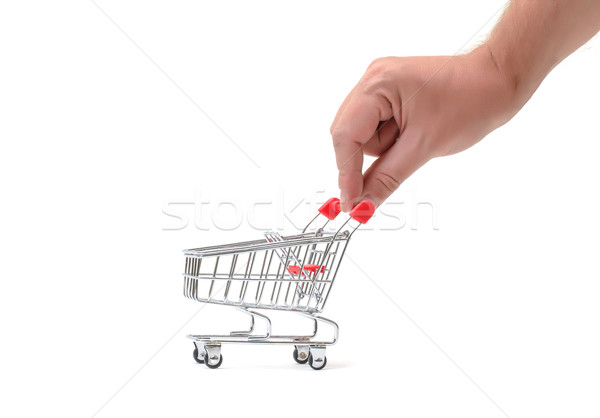 Shopping Cart with Hand Stock photo © Discovod