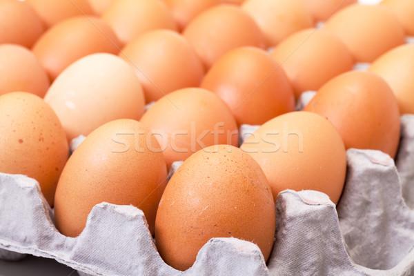 Fresh Brown Eggs in Carton Stock photo © Discovod