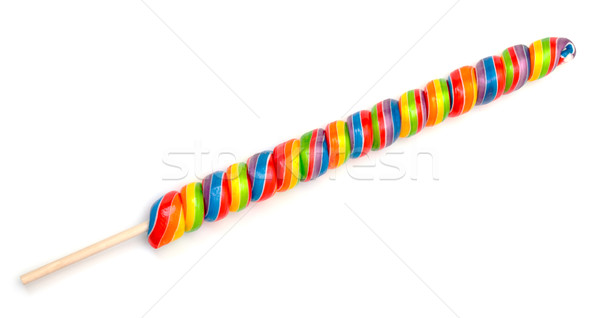 Rainbow Twirl Lollipop Candies Stock photo © Discovod