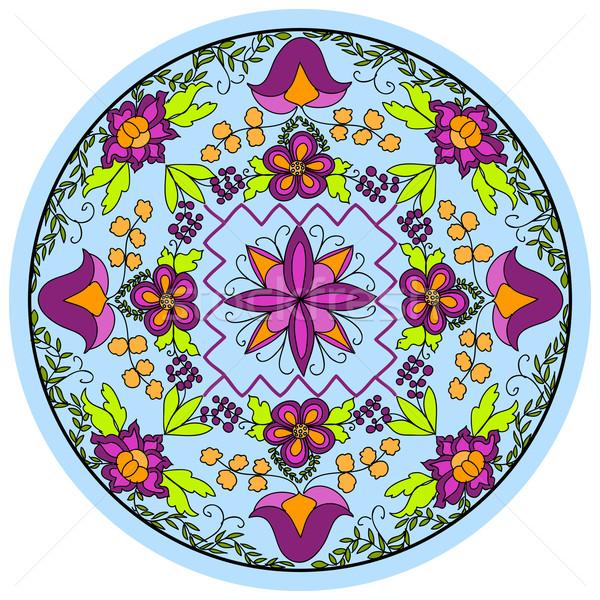 Floral padrão azul textura abstrato projeto Foto stock © Discovod