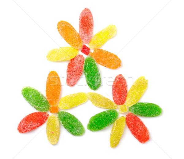Sweet confits fruits isolé blanche bonbons Photo stock © Discovod