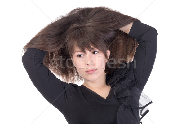 Attractive young woman with lovely long hair Stock photo © Discovod