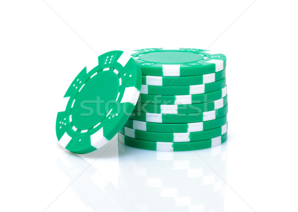 Small Stack of Green Poker Chips Stock photo © Discovod