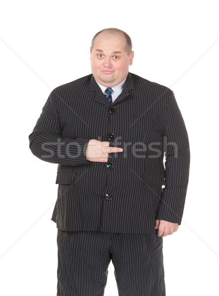 Obeso empresario traje empate Foto stock © Discovod