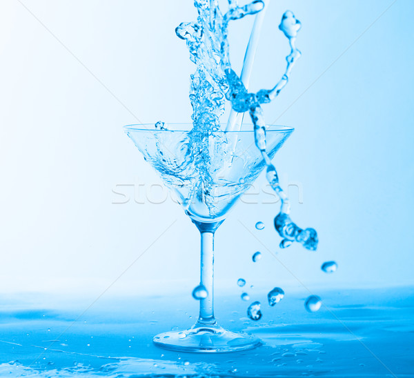 Water Splashing in a Wineglass Stock photo © Discovod