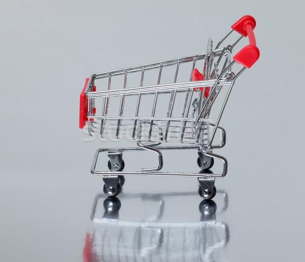ショッピングカート 孤立した 銀 ビジネス 背景 金属 ストックフォト © Discovod