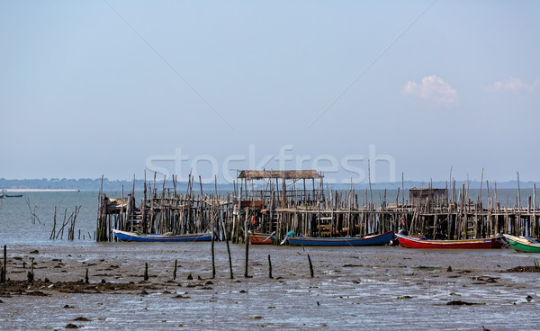 Eski köy su deniz okyanus tekne Stok fotoğraf © Discovod