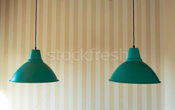 Dois moderno teto lâmpada listrado Foto stock © Discovod