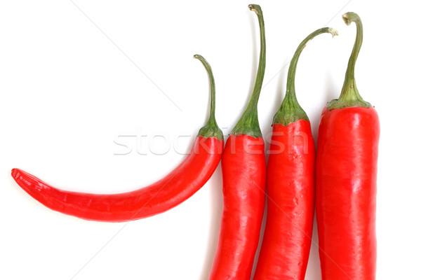Geïsoleerd witte eten hot peper Stockfoto © Discovod