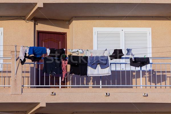 прачечной балкона город домой текстильной Сток-фото © Discovod