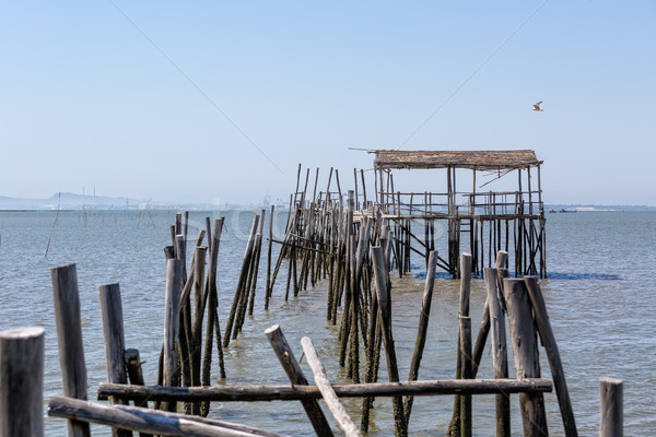Very Old Dilapidated Pier in Fisherman Village Stock photo © Discovod
