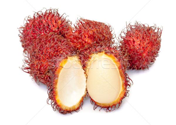 Fruta tropical branco comida saúde grupo asiático Foto stock © Discovod