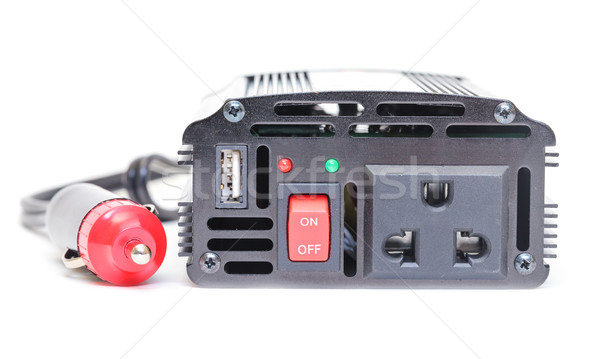 Car Power Inverter,DC to AC from car battery Stock photo © Discovod