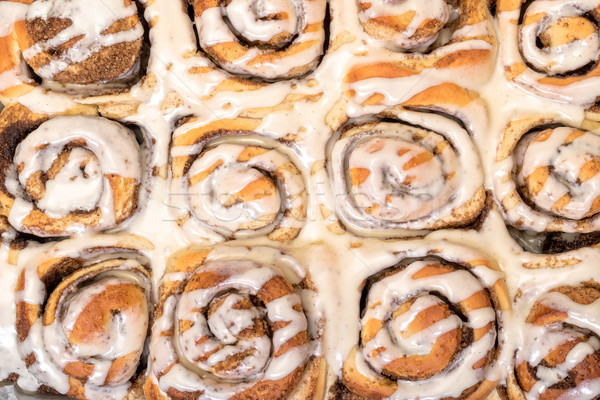 Top View Appetizing Cinnamon Buns Stock photo © Discovod
