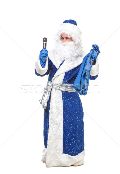 Travesty Actors Genre Depict Santa Claus Stock photo © Discovod