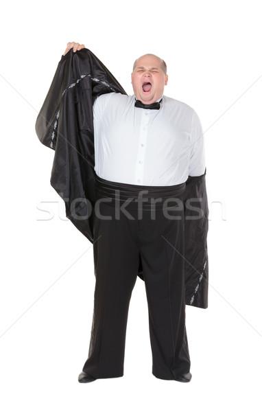 Gros homme embonpoint élégante Photo stock © Discovod