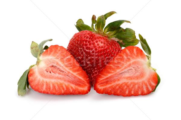 Fresh Strawberries closeup Stock photo © Discovod