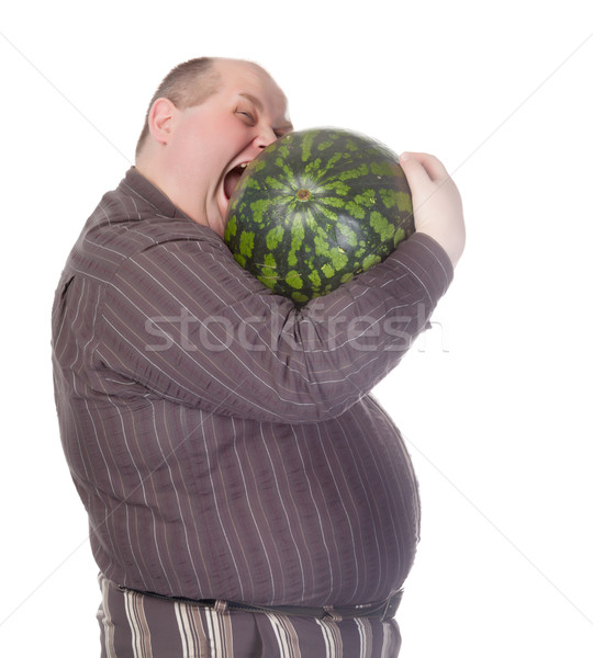 Obeso homem melancia enorme barriga Foto stock © Discovod
