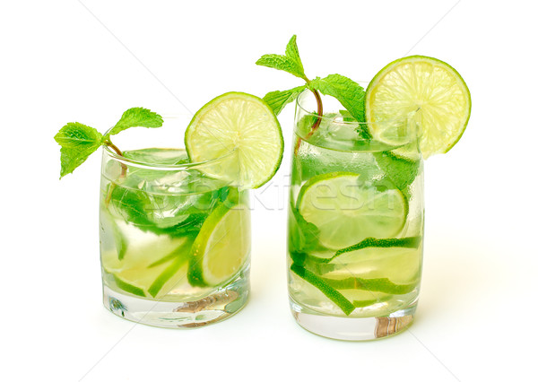 Mojito Cocktail in a Glass Beaker Stock photo © Discovod