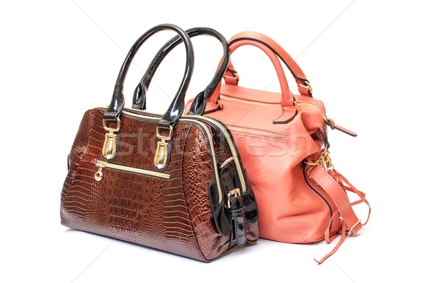 Two Leather Ladies Handbag Stock photo © Discovod