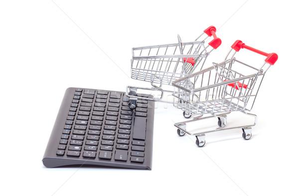 コンピュータのキーボード ショッピング 2 ミニチュア 線 を ストックフォト © Discovod