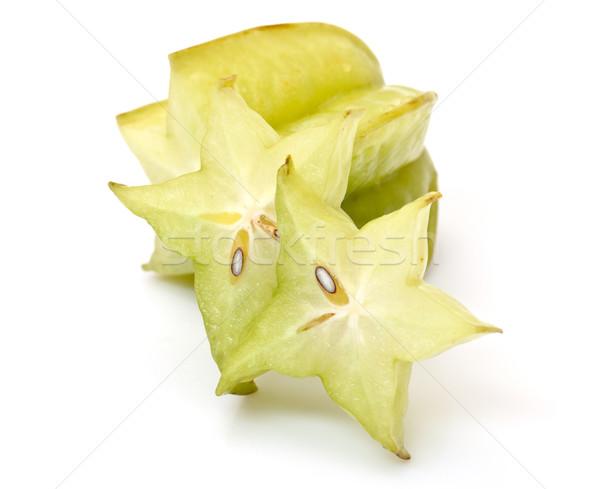Fatias branco comida fruto fundo verde Foto stock © Discovod