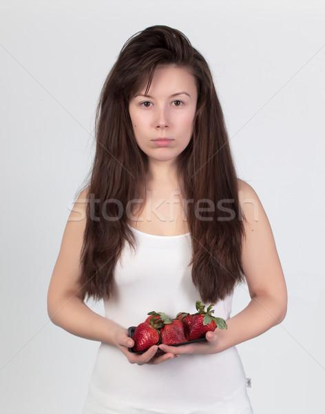 小さな 美人 新鮮な イチゴ 健康食品 食品 ストックフォト © Discovod