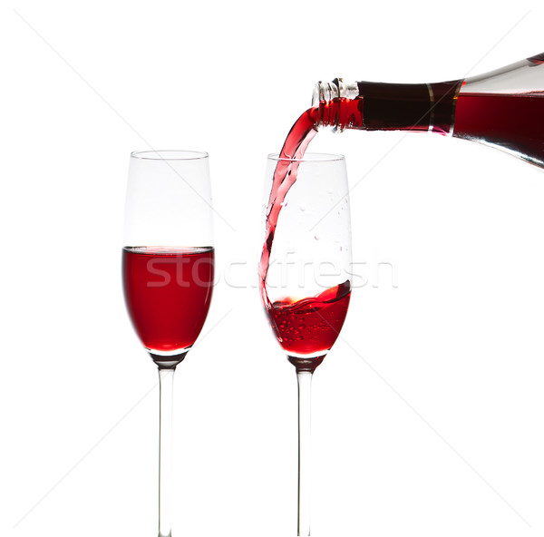 Pouring a glass of wine Stock photo © Discovod