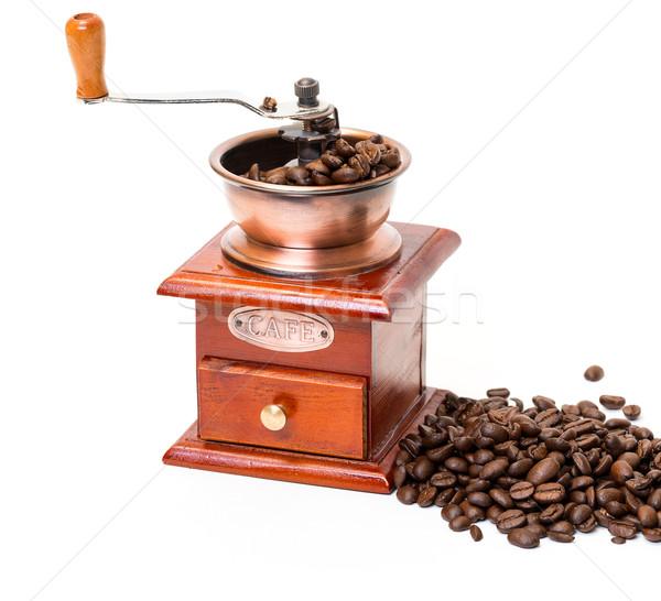 Kávé daráló kávé fehér háttér ital Stock fotó © Discovod