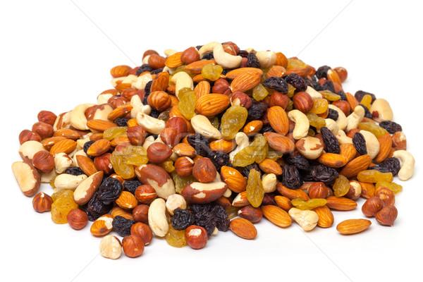 Mélange noix raisins blanche fruits énergie Photo stock © Discovod