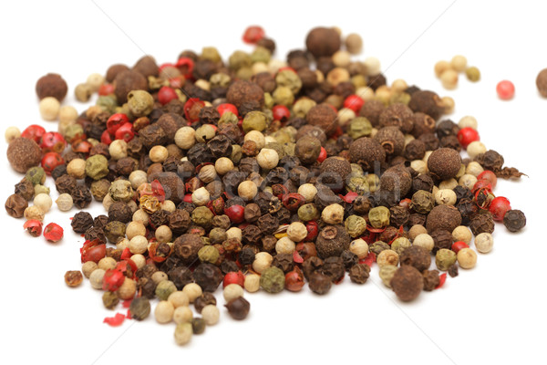 Pimentas foto branco comida fundo Foto stock © Discovod