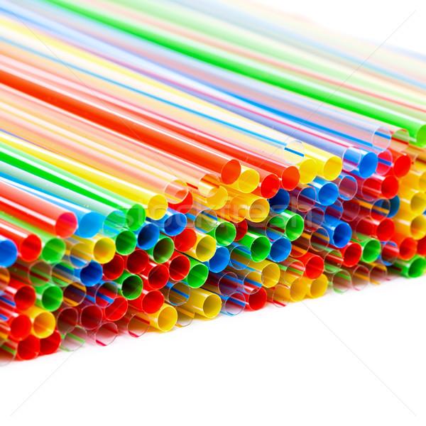 Plástico potável festa verde azul Foto stock © Discovod