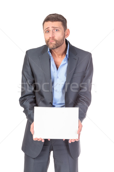 портрет бизнесмен пусто совета написать Сток-фото © Discovod