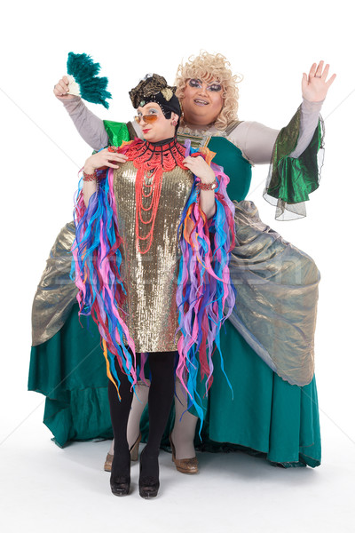 Two drag queens having fun performing together Stock photo © Discovod