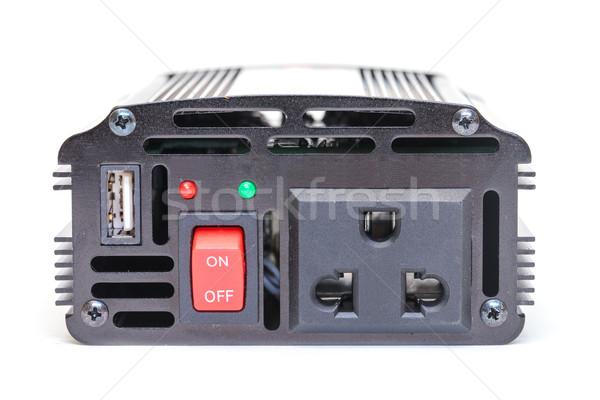 車 電源 バッテリー 白 電気 ストックフォト © Discovod
