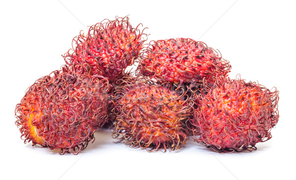 Tropische vruchten witte voedsel gezondheid groep asian Stockfoto © Discovod