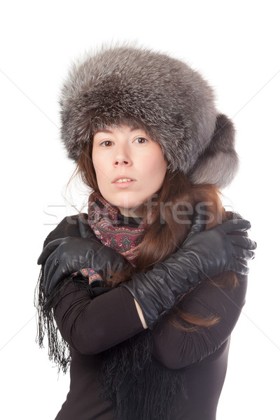 Vivacious woman in winter outfit Stock photo © Discovod
