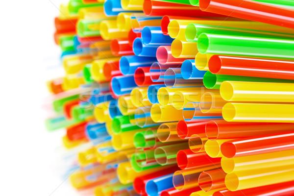 пластиковых питьевой вечеринка зеленый синий Сток-фото © Discovod