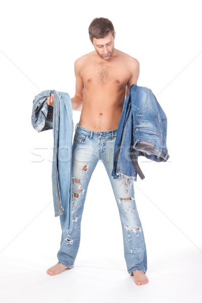 Man deciding what to wear Stock photo © Discovod
