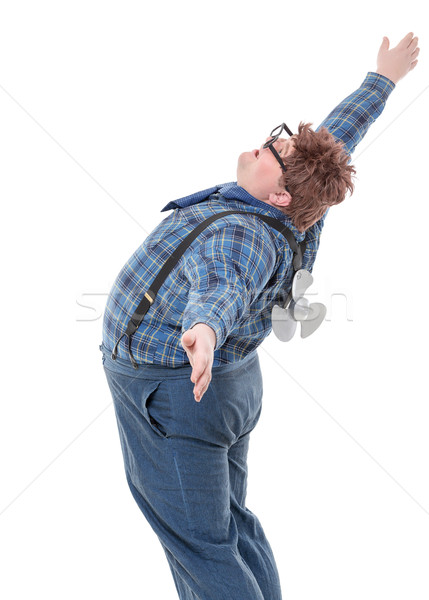 Overweight obese young man Stock photo © Discovod