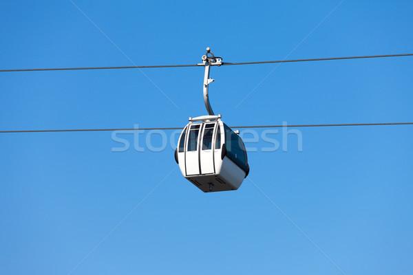 Kabel auto blauwe hemel wijk Lissabon Portugal Stockfoto © Discovod