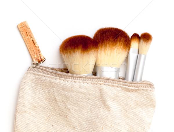 Sminkecset szett fehér arc divat haj Stock fotó © Discovod